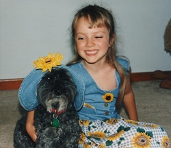 My first day of kindergarten with my old dog, Pepper (1995)